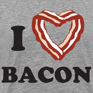I heart bacon - Men's Premium T-Shirt