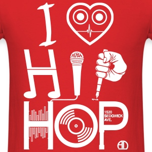 I Love Hip-Hop - Music Design DJ - Men's T-Shirt