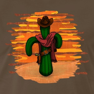 cowboy cactus sunset - DIGITAL T-Shirts - Men's Premium T-Shirt