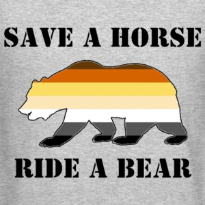 Bear Pride Save a Horse ride a Bear - Crewneck Sweatshirt