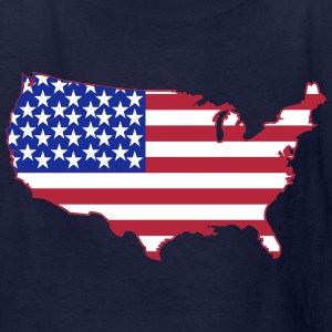 American Flag USA Shape Kids' Shirts - Kids' T-Shirt
