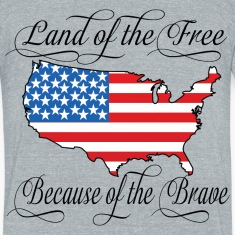 Land of the Free USA Flag T-Shirts