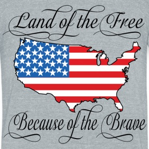 Land of the Free USA Flag T-Shirts - Unisex Tri-Blend T-Shirt