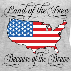 Land of the Free USA Flag Tanks - Women's Premium Tank Top