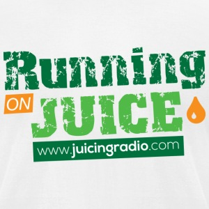 Running on Juice: Men's Fitted T-Shirt - Men's T-Shirt by American Apparel
