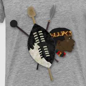Zulu Warrior - Men's Premium T-Shirt