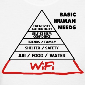 Wifi Basic Human Needs - Women's T-Shirt
