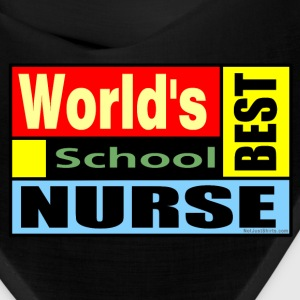 World's Best School Nurse Caps - Bandana