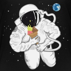 Astronaut with ice cream cone  Baby & Toddler Shirts