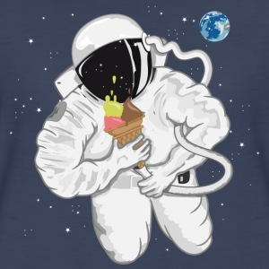 Astronaut with ice cream cone  Women's T-Shirts - Women's Premium T-Shirt