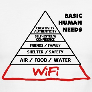 Wifi Basic Human Needs - Men's Ringer T-Shirt