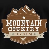 Design ~ $15 Mountain Country 107.9 Ladies Basic T-Shirt