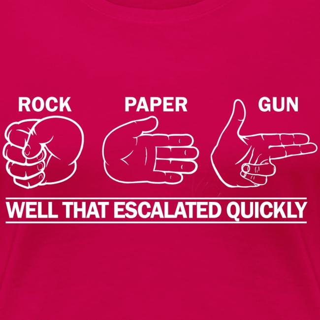 Ladies Premium: Rock, Paper, Gun