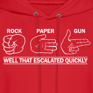 Design ~ Hooded Sweater: Rock, Paper, Gun