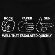 Design ~ Standard Tee: Rock, Paper, Gun