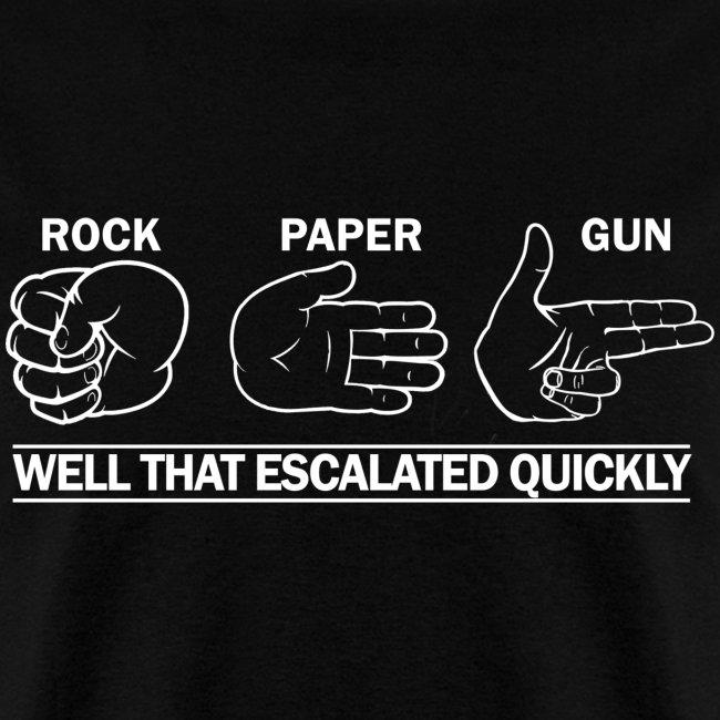 Standard Tee: Rock, Paper, Gun