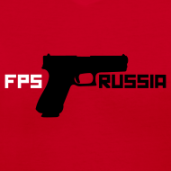 Design ~ Ladies V-Neck: FPS Russia Gun