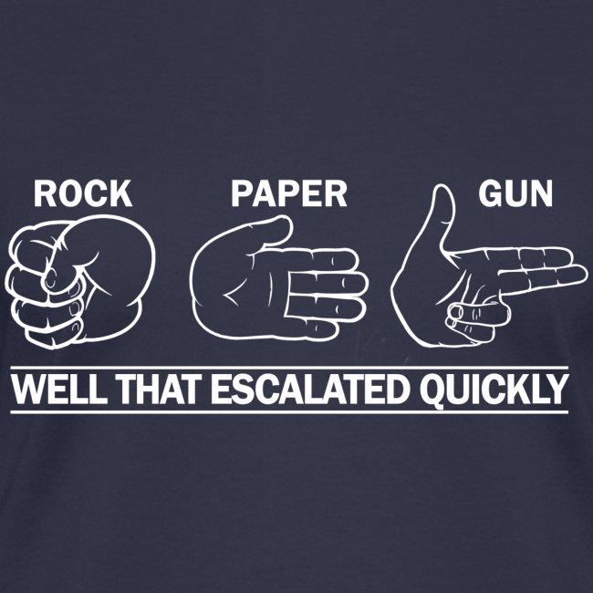 Ladies V-Neck: Rock, Paper, Gun