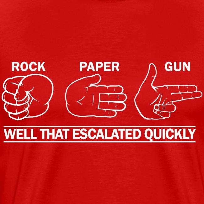 Premium Tee: Rock, Paper, Gun