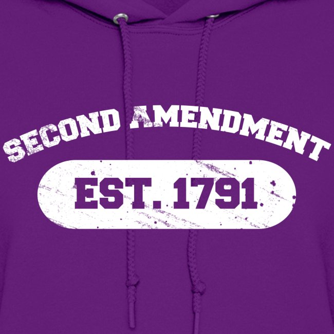 Ladies Hooded Sweater: Second Amendment