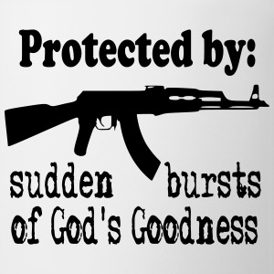 Protected By: Sudden Bursts of God's Goodness Bottles & Mugs - Coffee/Tea Mug