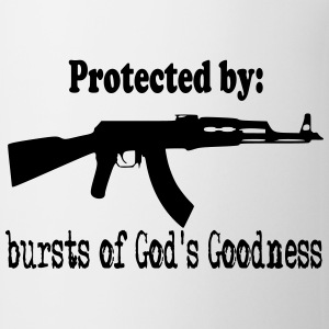Protected By:  Bursts of God's Goodness Bottles & Mugs - Coffee/Tea Mug