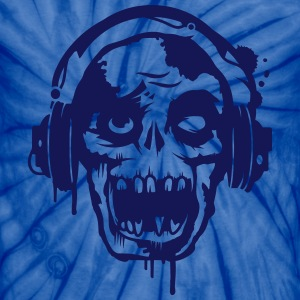 a zombie with headphones  T-Shirts - Unisex Tie Dye T-Shirt