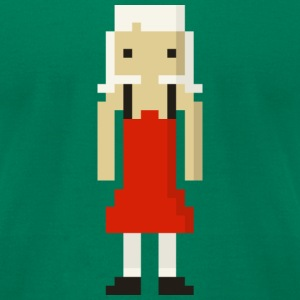 Red dress 8bit - Men's T-Shirt by American Apparel
