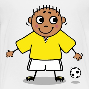Soccer player - yellow and white jersey Kids' Shirts - Kids' Premium T-Shirt