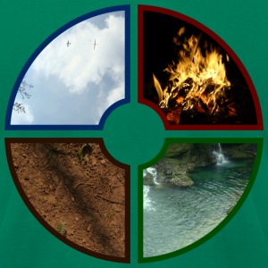 4 Elements - earth air fire water - DIGITAL T-Shirts - Men's T-Shirt by American Apparel