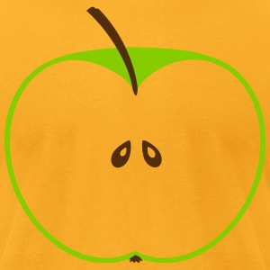 fruit apple cut in half - 2 colors T-Shirts - Men's T-Shirt by American Apparel