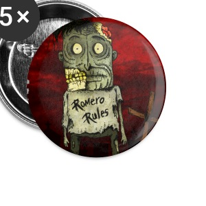 Zombie Romero Rules Buttons - Large Buttons