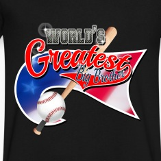 Worlds Greast Big Brother Baseball Park Flag USA T-Shirts