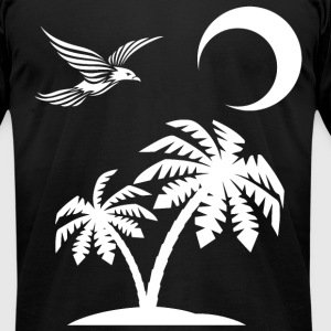 Vector Island - Men's T-Shirt by American Apparel