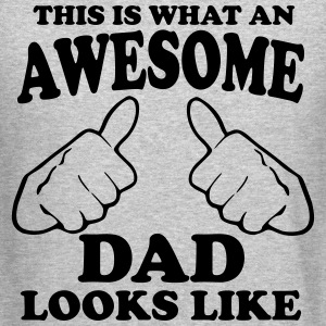 This is What an Awesome Dad Looks Like Long Sleeve Shirts - Crewneck Sweatshirt