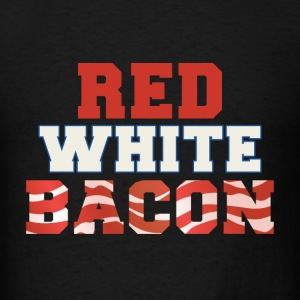 Red White & Bacon 4th of July - Men's T-Shirt