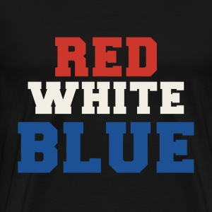 Red White & Blue 4th of July - Men's Premium T-Shirt