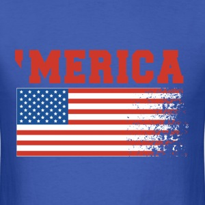 'Merica Flag 4th of July - Men's T-Shirt