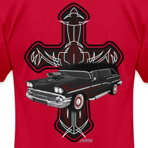 Hearse and Cross - Men's T-Shirt by American Apparel