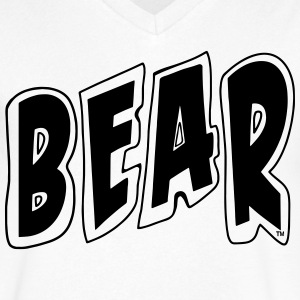 BEAR - Men's V-Neck T-Shirt by Canvas