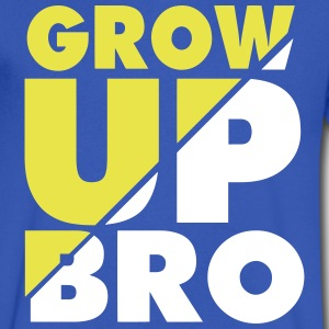 GROW UP BRO T-Shirts - Men's V-Neck T-Shirt by Canvas
