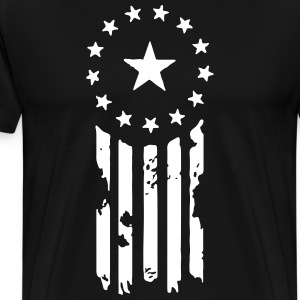 Old World Justice Flag (Fallout) T-Shirts - Men's Premium T-Shirt