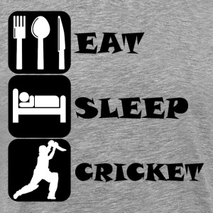 Eat Sleep Cricket - Men's Premium T-Shirt