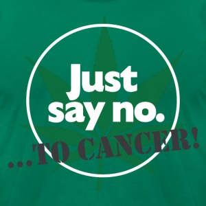 Just Say No - Men's T-Shirt by American Apparel