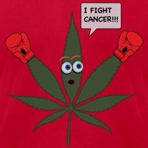 I Fight Cancer - Men's T-Shirt by American Apparel
