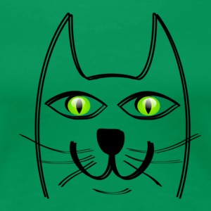 Green eyed cat - Women's Premium T-Shirt
