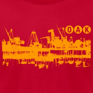 Oakland Docks - Men's T-Shirt by American Apparel