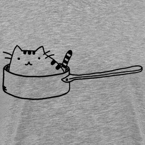 Cat in a Pan - Men's Premium T-Shirt