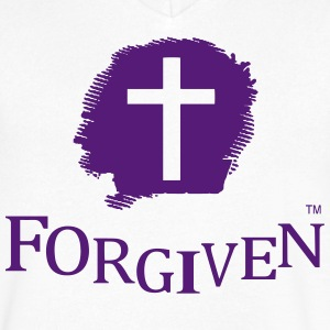 FORGIVEN T-Shirts - Men's V-Neck T-Shirt by Canvas