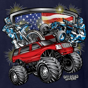 Off-Road 4th of July Kids' Shirts - Kids' T-Shirt